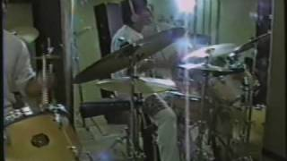 Steve drumming to group, ELP (Peter Gunn) - sept 1987