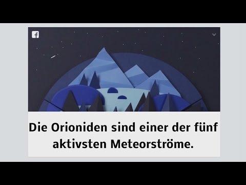 Orioniden - Orionids (Facebook Doodle)
