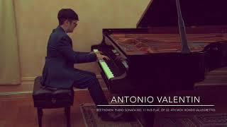 Beethoven: Piano Sonata No. 11 in B-flat, Op. 22. 4th mov. Rondo (Allegretto)