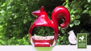 Good Directions E04r Enchanted Bird Feeder - Ruby Red Squirrel