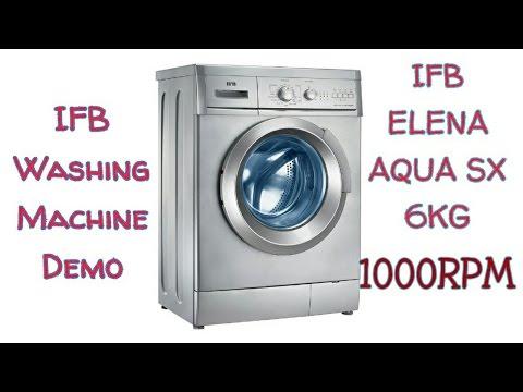 Washing Machine Demo - IFB ELENA AQUA SX 6KG 1000RPM | Electro Mall