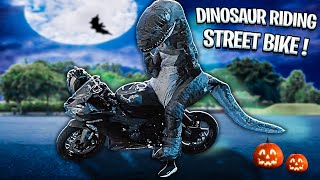 dinosaur-takes-over-halloween-on-street-bike-epic-braap-vlogs