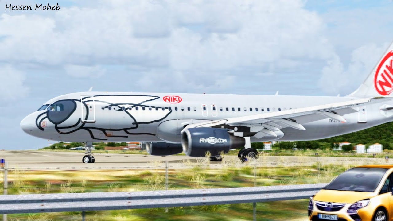 Skiathos Airport Traffic takeoff & landings ( Flight Simulator X