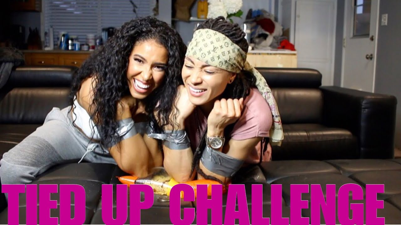 Tied Up Challenge With My Gf Ambers Closet
