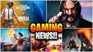 PUBG X Godzilla, Bird Unlock, Rage 2 Cracked, CODM Battle royale, Fortnite John Wick etc Gaming News