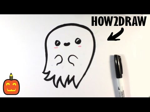 How To Draw A Scary Ghost Cute Halloween Drawings