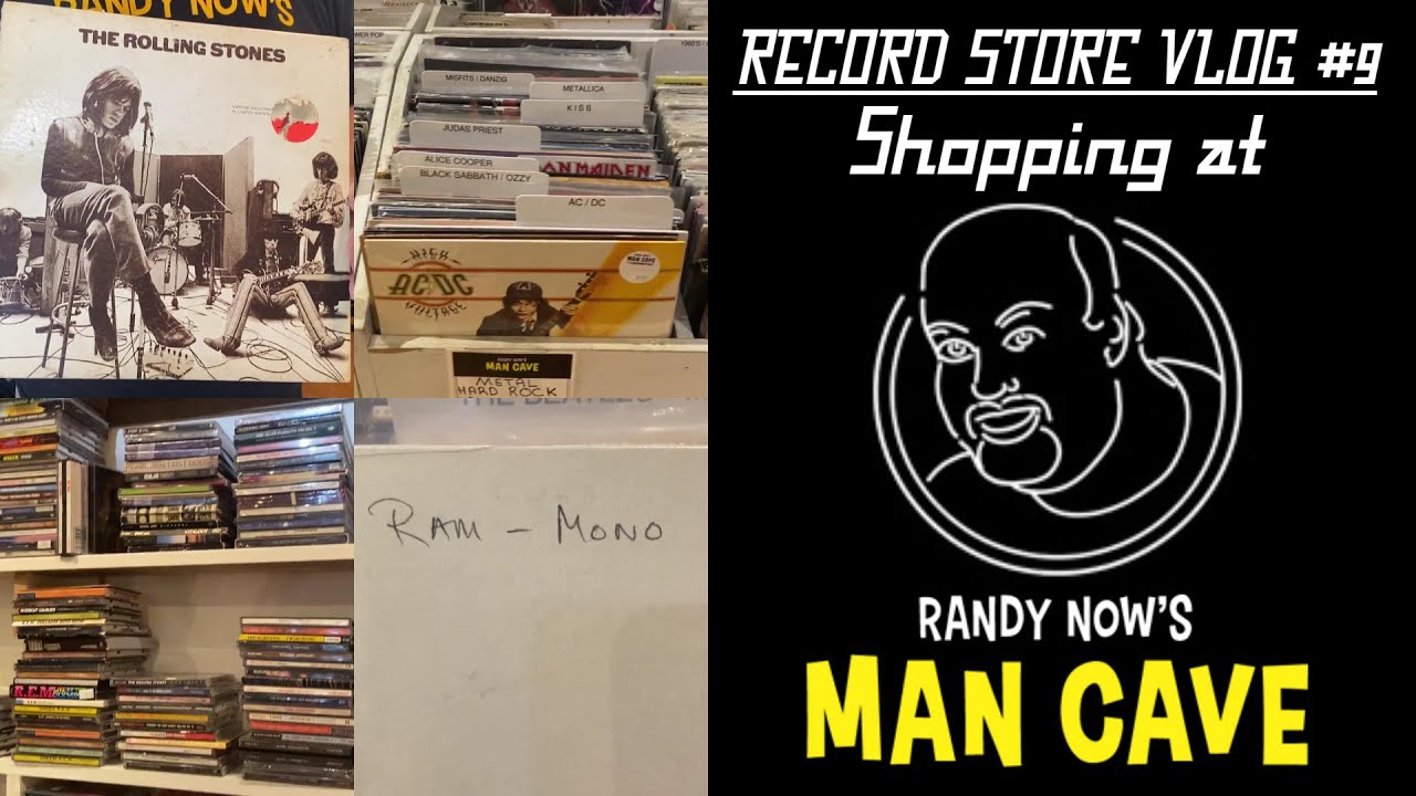 RECORD STORE VLOG #9: Shopping at Randy Now's Man Cave, Rolling Stones '69 promo & Ram in Mono!