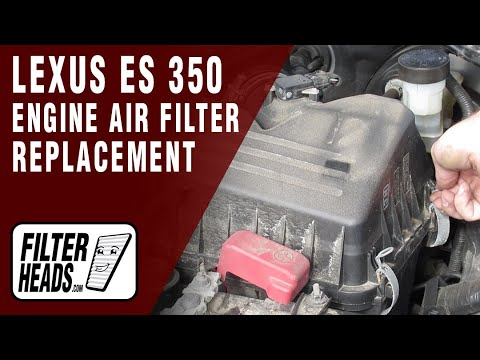 How to Replace Engine Air Filter 2007-2012 Lexus ES 350 V6 3.5L