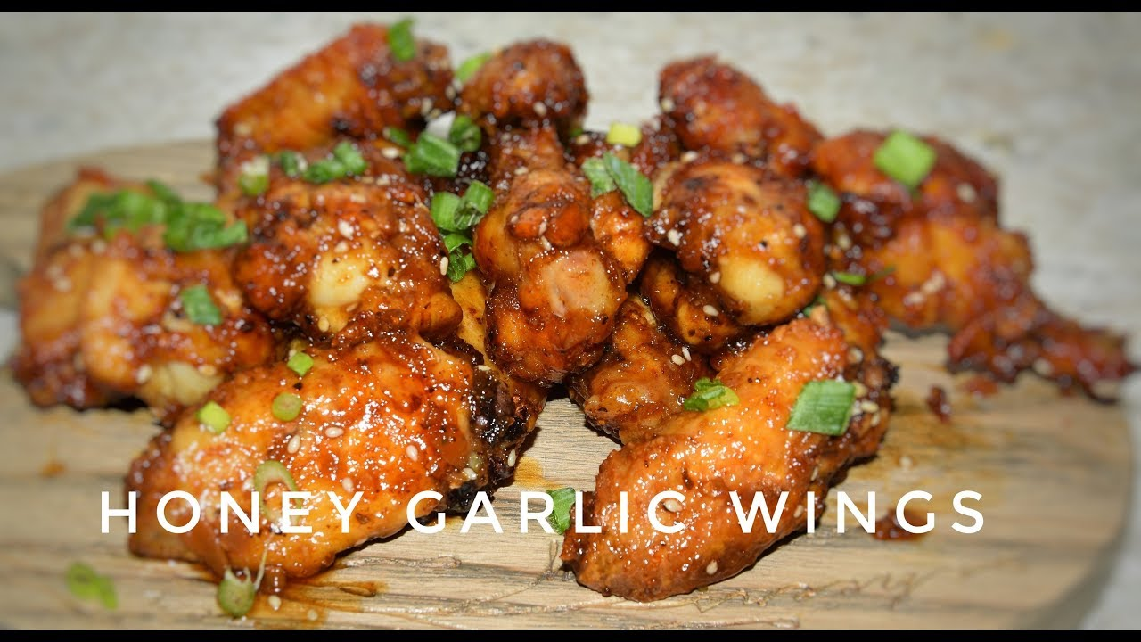 Honey Garlic Chicken Wings Air Fried Chicken Wings Air Fryer Recipes Youtube