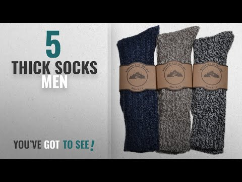 Top 10 Thick Socks Men [2018]: 3 Pairs of Mens Thick & Warm Heavyweight Socks One Size: UK Mens