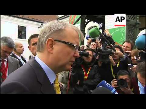Finance ministers arriving for meeting to discuss Portugal bailout