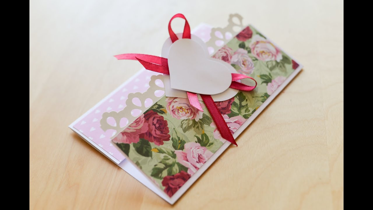 How To Make Greeting Card Wedding Marriage Heart Birthday Step
