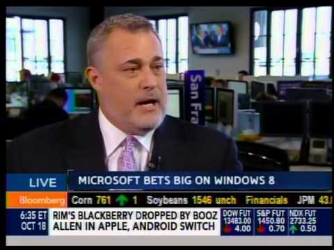 Jeffrey Hayzlett on Bloomberg West - Microsoft Windows 8