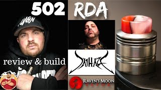 502 RDA by Jai Haze & Ravens Moon Vapor Review & Build | AmbitionZ VapeR