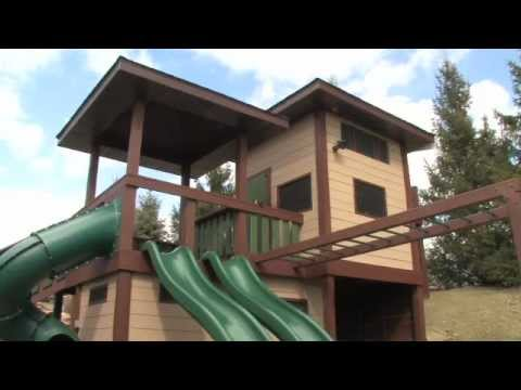 Swing Sets Play Structures Tree Houses  Custom