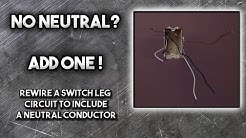 Rewire an Electrical Switch box with No Neutral