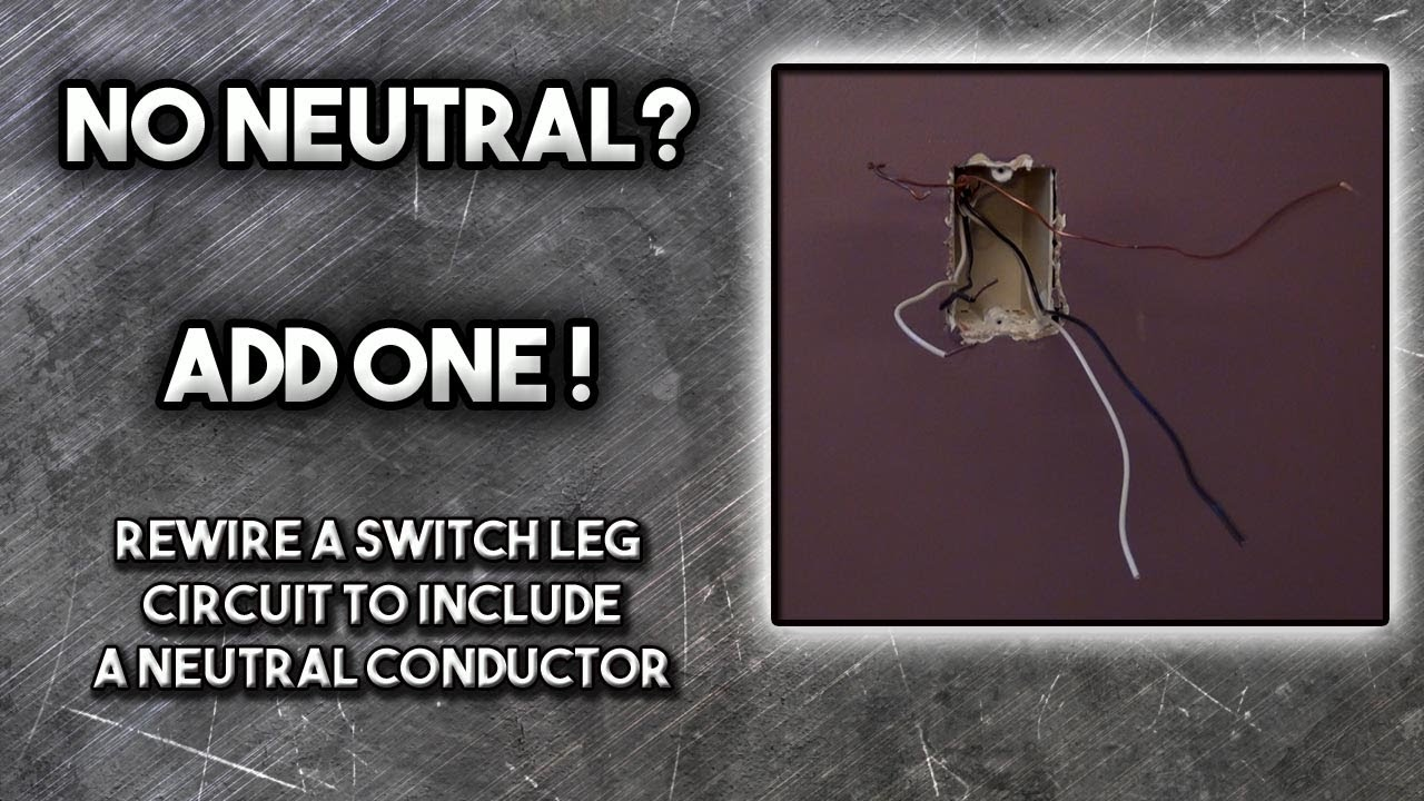 Rewire an Electrical Switch box with No Neutral   YouTube Rewire an Electrical Switch box with No Neutral
