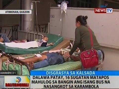 BT: 2 patay, 16 sugatan matapos mahulog sa bangin ang isang bus na nasangkot sa karambola