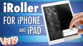 Liquid-free screen cleaner for any touchscreen [iRoller]