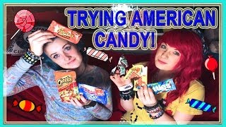 BRITISH GIRLS TRY AMERICAN CANDY + SNACKS!