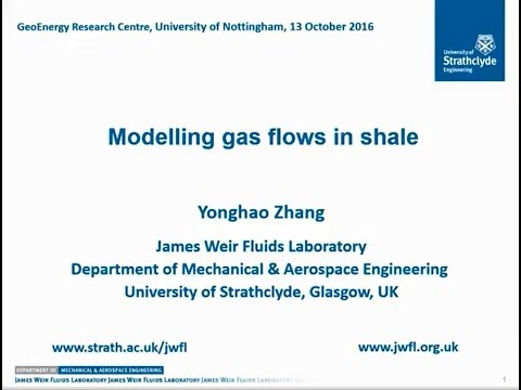 Modelling Gas Transport in Shales. By Prof. Yonghao Zhang