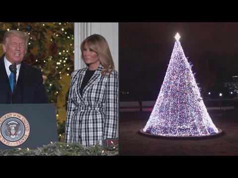 AFP News Agency: Melania Trump lights up the national Christmas tree at the White House | AFP