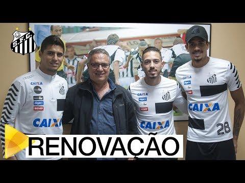 Lucas Veríssimo, Jean Mota e Daniel Guedes renovam contrato com o Santos FC
