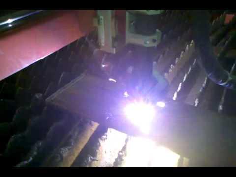 Dynatorch 6x12' cnc plasma table cutting 1/2in plate gear ...