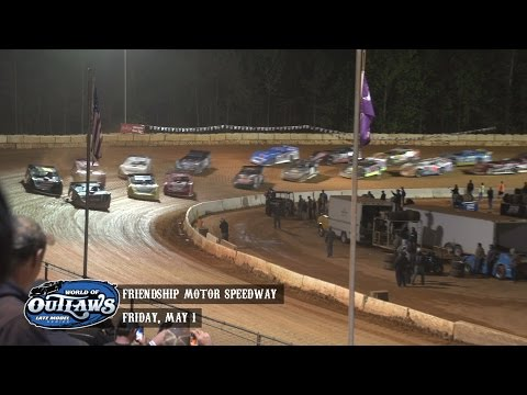 Highlights: World of Outlaws Late Model Series Friendship Motor Speedway May 1st, 2015