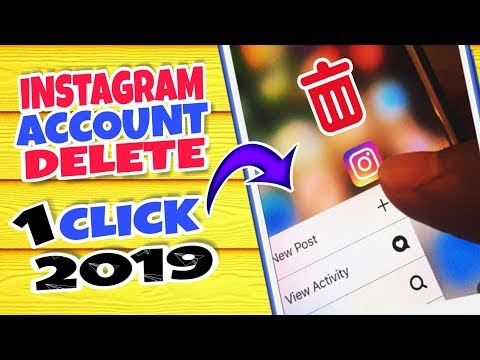 2019 How To Easily Delete Instagram Account /Forget Password