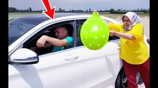 PRANK! İn The Balloon İce Water Vs SPRİTE Joke & And The Car Being Too Bad
