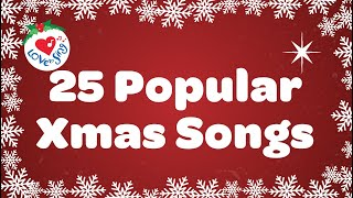 Kids Christmas Songs Playlist With Lyrics 2018 | 25 Popular Christmas Songs and Carols