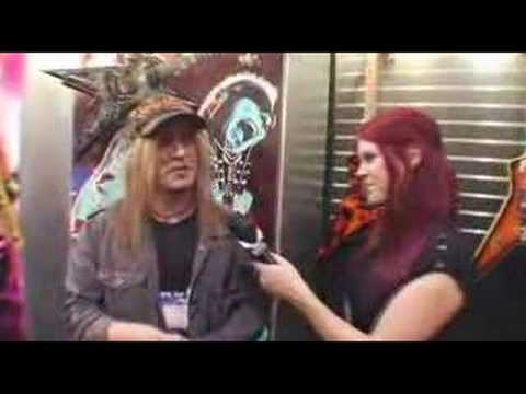 Chris Caffery of TSO at Dean guitars NAMM 2008