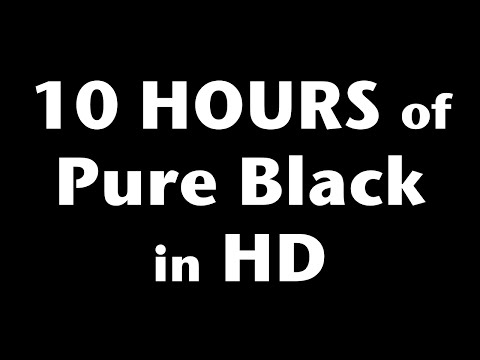 10 Hours of Pure Black Screen in HD