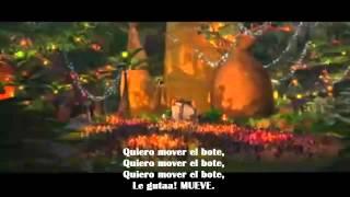 Madagascar Quiero mover el bote (con letra en español latino)