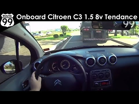 Avaliação Onboard Citroen C3 1.5 8v Tendance (Canal Route 99)