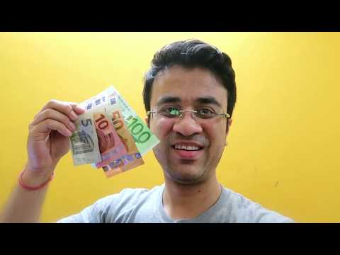Euro Money And Currency Travel Vlog In Hindi - All About Euro Money Exchange