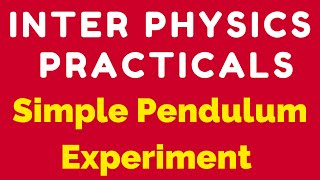 physics practical simple pendulum experiment video