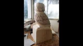 Wood Carving Owl In Progress