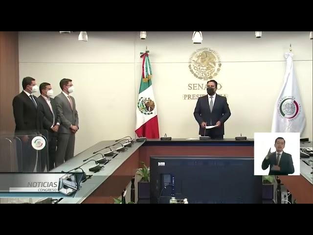La nota del Canal del Congreso sobre la protesta de ley de Gabriel Torres Espinoza en el Senado.
