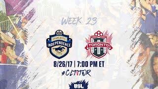 Charlotte Independence vs Toronto FC USL full match