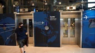 Amazing 2011 Mitsubishi traction glass elevators @ Terminal 21 (shopping center), Bangkok, Thailand