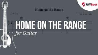 Home on the Range Guitar Tab