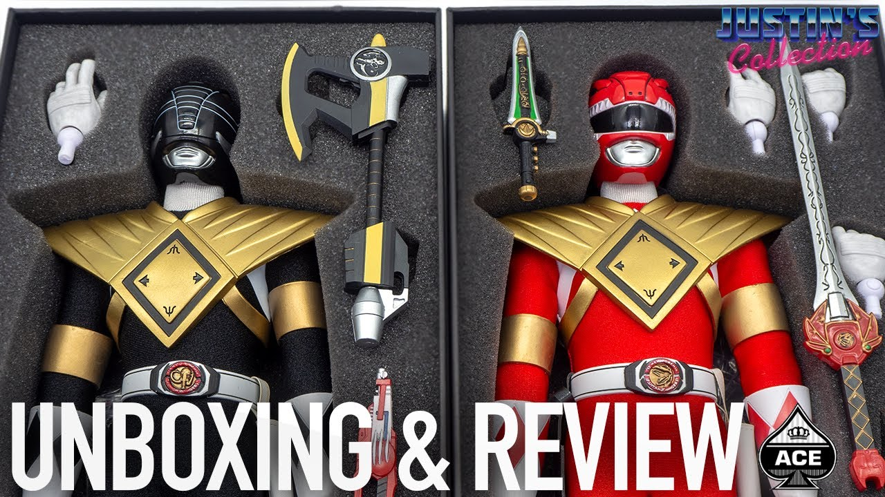Power Rangers Armored Black & Red Ranger 1/6 Scale 3rd Party Unlicensed Ace Toyz Unboxing & Review