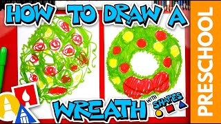How To Draw A Holiday Wreath