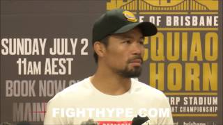 PACQUIAO WARNS JEFF HORN; DARES HIM TO BE AGGRESSIVE AND NOT FIGHT LIKE MAYWEATHER