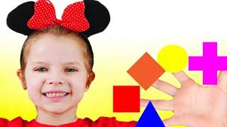 Canción de Color de la familia del dedo  -  Canción Infantil  | Canciones Infantiles con Nicole