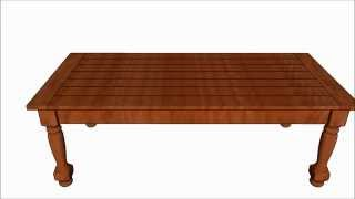 Turned Leg Coffee Table Plans