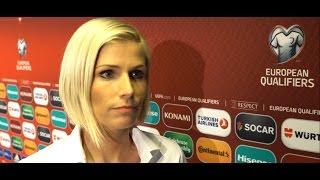 Intervija ar ungāru televīzijas futbola apskatnieci Berkesi Judit