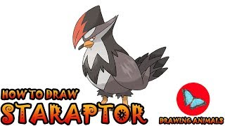 How To Draw Staraptor Pokemon | Coloring and Drawing For Kids